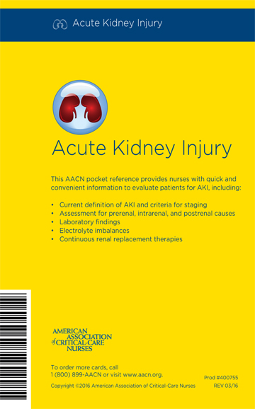 AACN Acute Kidney Injury Pocket Reference Card