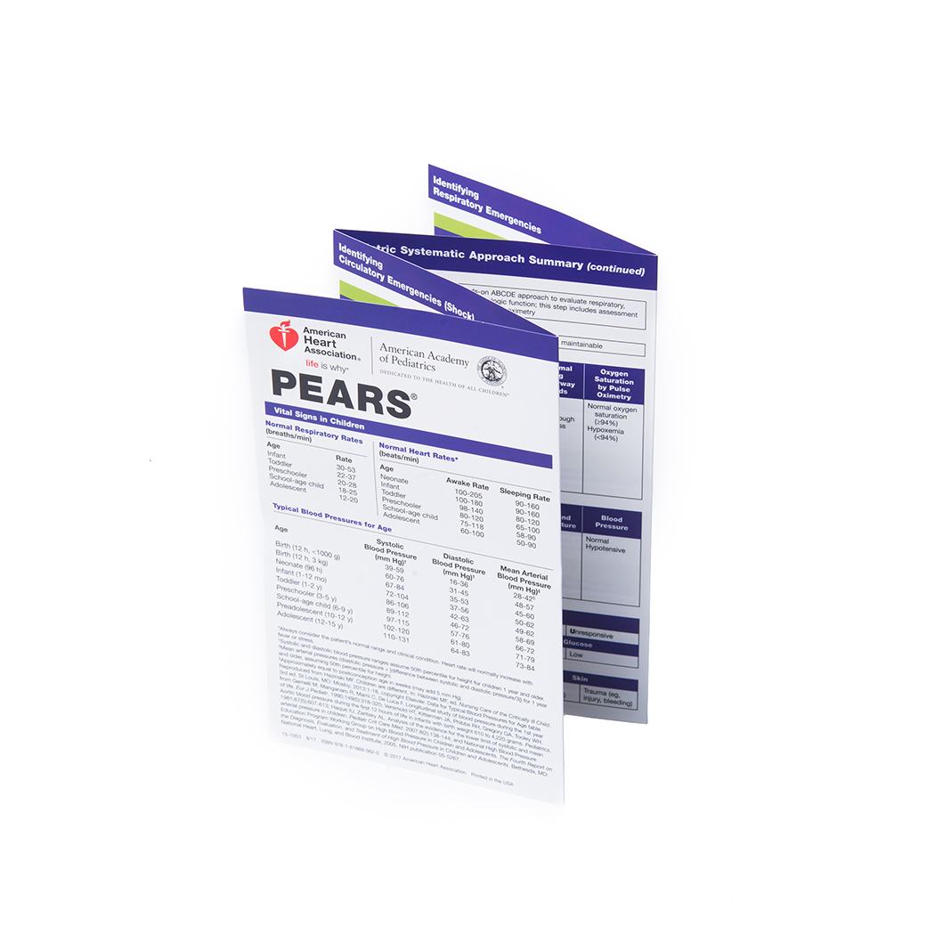 PEARS Pocket Reference Card