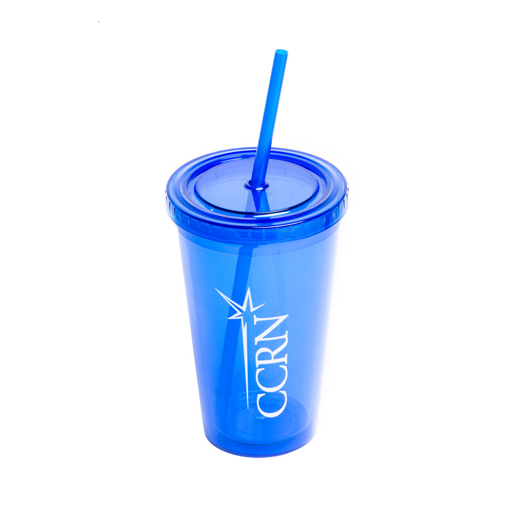 CCRN To Go Cup with straw